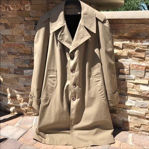 Vintage Montgomery Ward Trench Coat Fur Lined 42